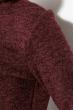 Гольф женский утепленный 70P027 бордовый меланж