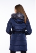 Куртка с пайетками на карманах 120PSKL6235 темно-синий
