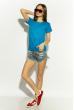 Футболка женская 85F381 базовая голубой