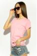 Футболка женская 85F381 базовая розовый