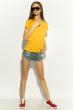 Футболка женская 85F381 базовая желтый