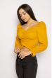 Блуза со сборкой 635F004 горчичный