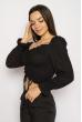 Блуза со сборкой 635F004 черный