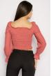 Блуза со сборкой 635F004 коралловый