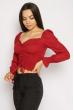 Блуза со сборкой 635F004 бордо