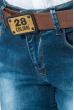 Джинсы женские прямые 08P123 синий