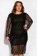 Платье 110P032 черный