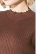 Свитер женский, однотонный базовый  123V001 коричневый