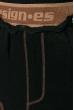 Юбка вязаная 125V001 черно-коричневый