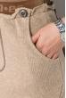 Юбка вязаная 125V001 бежево-коричневый