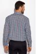 Рубашка 511F043 сине-бордовый