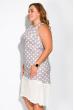 Нежное платье в горох 165P516 серо-белый