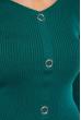 Джемпер приталенного кроя 605F001 зеленый