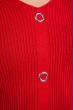 Джемпер приталенного кроя 605F001 красный