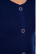 Джемпер приталенного кроя 605F001 чернильный