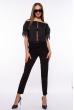 Блуза со спущенными плечами 207P6808 черный