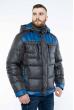 Куртка с капюшоном 157P13016-1 серо-синий