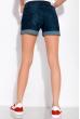 Джинсовые шорты 149P002 темно-синий