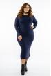 Платье трикотажное 615F2035 темно-синий