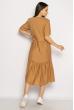 Однотонное платье свободного кроя 632F002 бежевый