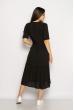 Однотонное платье свободного кроя 632F002 черный