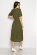 Однотонное платье свободного кроя 632F002 хаки