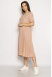 Однотонное платье свободного кроя 632F002 пудровый