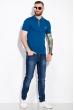 Однотонное поло 104P051 джинс