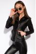 Куртка женская из эко кожи 120PLI265 черный