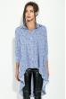 Туника женская с вышивкой  Ноты 64PD230-11 сине-белый , ноты