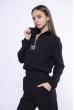 Костюм женский с манжетами 153P6223 черный