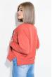 Свитшот женский с надписью на груди  82PD407 оранжевый