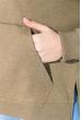 Свитшот женский с надписью на груди  82PD407 хаки