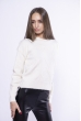 Модный укороченный свитер 153P834 кремовый