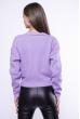 Модный укороченный свитер 153P834 лавандовый