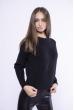 Модный укороченный свитер 153P834 черный