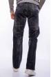 Джинсы мужские со строчкой 158P3250 серый варенка