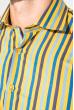 Рубашка мужская приталенная, в полоску 50PD28805 желто-синий