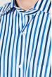 Рубашка мужская приталенная, в полоску 50PD28805 бело-синий