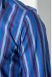 Рубашка мужская приталенная, в полоску 50PD28805 сиренево-голубой