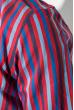 Рубашка мужская приталенная, в полоску 50PD28805 красно-синий