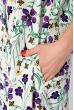 Платье-рубашка с цветочными мотивами 103P482 молочный принт