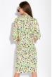 Платье-рубашка с цветочными мотивами 103P482 лимонный / принт