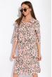 Платье-рубашка с цветочными мотивами 103P482 светло-розовый / принт