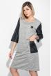 Платье женское (батал) с молнией на спине и боковыми карманами 74PD317 светло-серый меланж