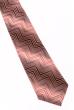 Галстук мужской принт «Зигзаг» 50PA0017-2 коралловый