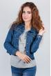 Куртка классическая джинсовая женская 406K001 синий