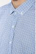 Рубашка мужская в клетку 511F003-6 бело-голубой