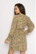 Платье с весенним принтом 632F004-2 зеленый