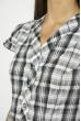 Блуза в клетку  118P274 черно-белый